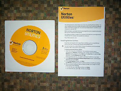 Norton Utilities 16 16.0 for (3 PC's) CD & Key for Windows XP, Vista, 7, 8 & 10
