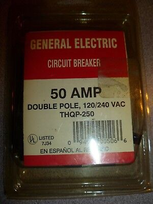 GE  Q-Line  Double Pole  50 amps Circuit Breaker, THQP250 BRAND NEW