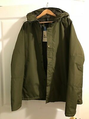 Barbour NEW Olive Mens Size XL Rydal Waterproof and Breathable Hooded Jacket