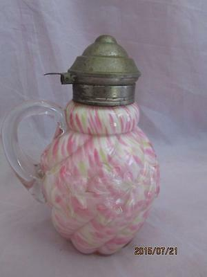 Northwood Glass Royal Ivy Spatterware Syrup Jug