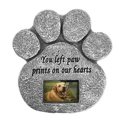 """""""You Left Paw Prints On Our Hearts' Paw Print Pet Memorial Stone"""