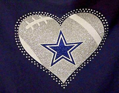 Dallas Cowboys Heart Iron on Transfer (no shirt)