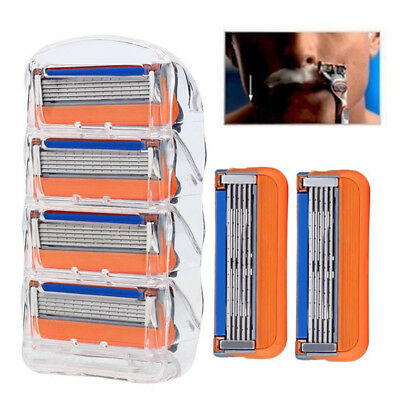 4PCS Tool 5 Layer Face Shaving Razor Blade Shaver Replacement Blade US