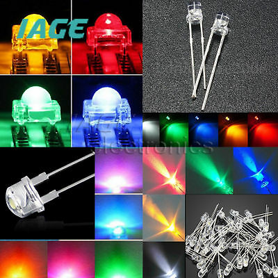 3-10mm Round/Straw Hat/Flat Top/Piranha Water Clear/DIFFUSED LED Diode colourful