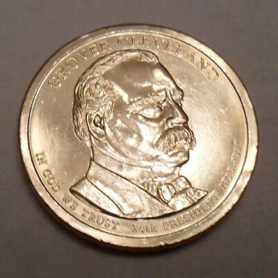 2012 P Grover Cleveland 2nd Term Presidential Dollar Coin **FREE SHIPPING**