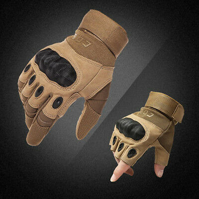 Tactical Army Military Gloves Men Hard Knuckle Half Full Finger Outdoor Hunting