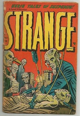 STRANGE FANTASY issue 2 CLASSIC blood transfusion cover by Steve Ditko!