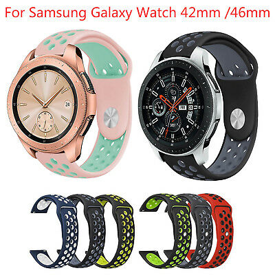 Dual Colors Silicone Band for Samsung Galaxy Watch 42mm 46mm Bracelet Strap Belt