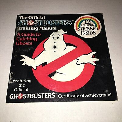 VINTAGE Official Ghostbusters Training Manual Book w/Original Stickers 1984