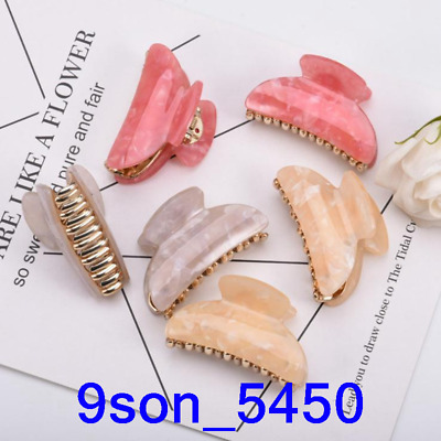 Simple Women Acrylic Hair Claw Clips Barrette Crab Clamp Girls Hair Accessories