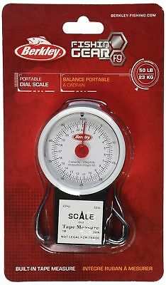 Berkley 50Pound Portable Fish Scale with Tape Measure
