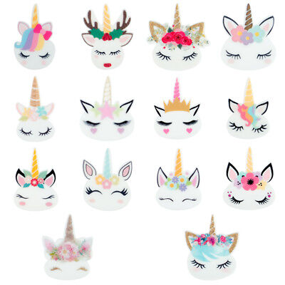 10pcs/lot Mini Planar Resin Cute Unicorn Head Kawaii Resin Cabochons Accessories