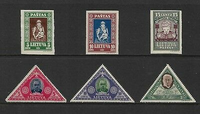 LITHUANIA mixed collection, 1933 Child Welfare & Air mail issues, mint MH