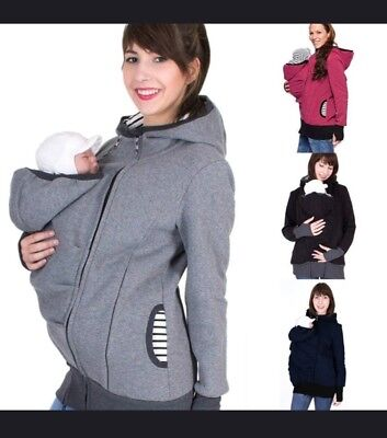 Maternity Winter Coat Kangaroo Style Maternity Hoodie Jacket For Mommy And Baby