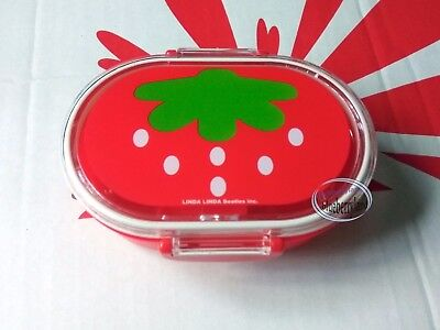 Strawberry pattern Snack Case Box Food container Small bento school kids ladies