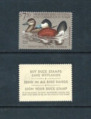 UNITED STATES _ 1981 'DUCK HUNTING PERMIT' $7.50 _ mnh ____(548)
