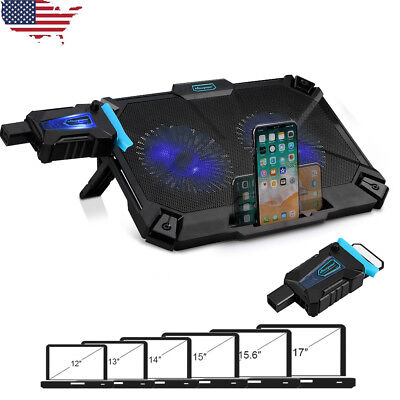 """Laptop Notebook Cooler Stand With  Fan & Tilt For 12-17"""" Inch Cooling Pad"""