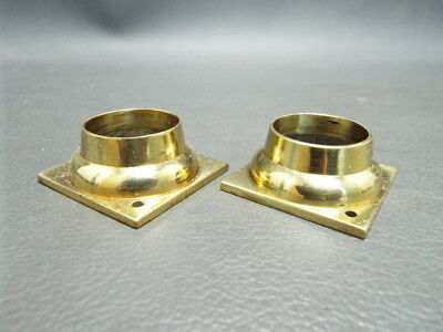 2 brass Grandfather Longcase clock capitals - New old stock - spares parts
