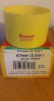 "STARRETT HOLESAW 67mm (2.5/8"") constant pitch holesaws"