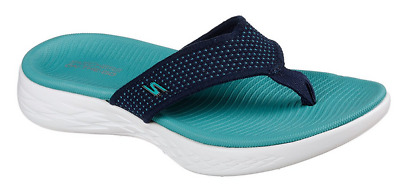 finest selection 0f449 c658e Skechers On the GO 600 Damen Schuhe Zehentrenner FlipFlops 15300 (Blau-NVTQ)