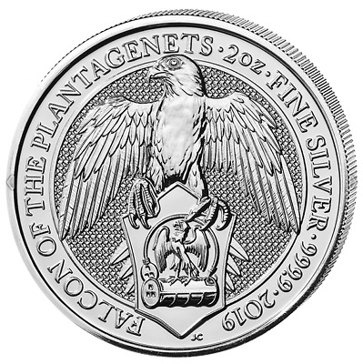 "5£ Silber Großbritannien The Queen´s Beasts ""Falcon of Plantagenets"" 2019 2 OZ"