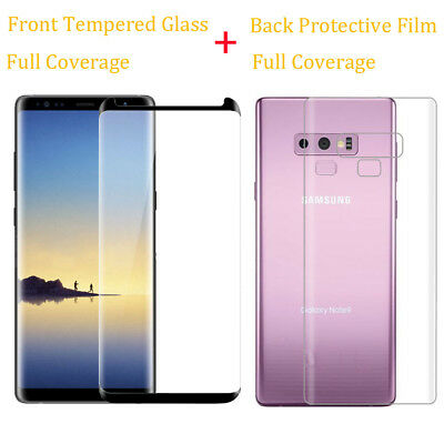 9H Tempered Glass Screen Protector Back PET Film For Galaxy Note 8 9/S9 Plus
