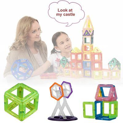 58PCS DIY Magnetic Construction Building Toys Educational Blocks Gift For Kids