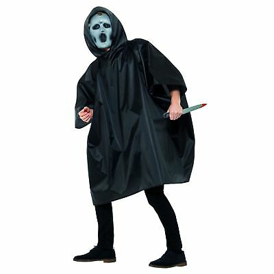 Screaming TV Movie Halloween Costume Scary Adult Mens Medium Knife Poncho Mask