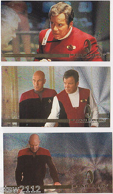 Star Trek Generations Movie Spectra-Etched Foil Insert Set S1 S2 And S3 (3)