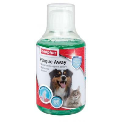Beaphar PLAQUE AWAY Remover Dog Cat Mouthwash Dental Rinse Oral Care Aid 250ml