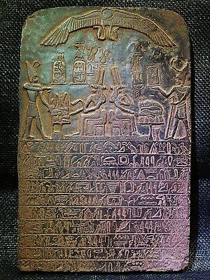 EGYPTIAN ARTIFACT ANTIQUITIES Queen Tetisheri Stela Stele Relief 1580-1550 BC