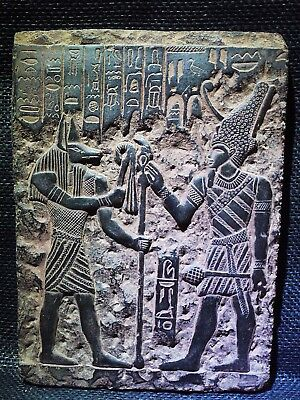 EGYPTIAN ARTIFACT ANTIQUITIES Wepwawet Anubis Seti I Stela Relief 1290-1279 BC