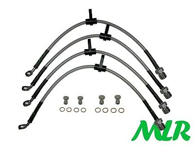Toyota Mr2 Mk3 Zzw30 Stainless Steel Braided Brake Lines Hoses Pipes Kit Bgh