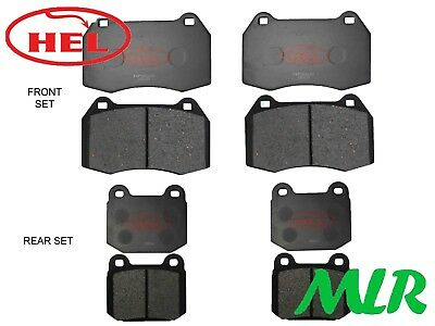 Hel Performance 350Z 3.5 Coupe Roadster Track Day Front & Rear Brake Pads