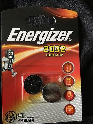 2 pack Energizer CR2032 Lithium 3V Coin Cell Battery SB-T15 Expiry JULY 2024
