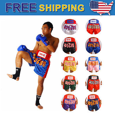 5XL N1 Muay Thai Kick Boxing Shorts Black original logoes style MMA S