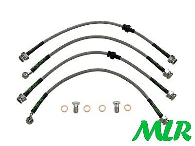 Mazda Rx7 Turbo Fd 1992-2002 Stainless Steel Braided Brake Lines Hoses Pipes Xa