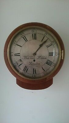 "Silver Dial Fusee Wall Clock 9  1/2""Drop Dial Very Pretty."