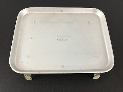 "Vintage TraCo Car Hop Tray Aluminum Drive In Jim's Place 14""x11"" Heavy Dallas"