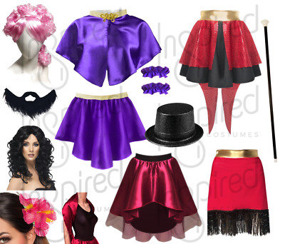 Ladies The GREATEST SHOW Wear Costumes ZENDAYA Bearded Lady Ringleader Costumes