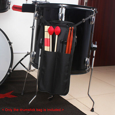 600D Waterproof Drum Stick Zipper Bag Storage Case Holder with Carrying Strap