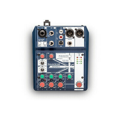 Soundcraft Notepad 5 Mixing Console With USB I/O