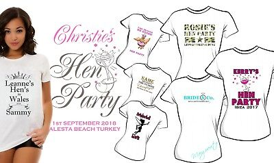 Personalised Hen Party Iron On Transfer Bride To Be Hen Weekend