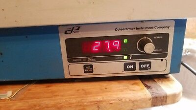 Stable Temp Cole-Parmer Model 12504-20 120 V Water Bath Tested to 101.2 C with
