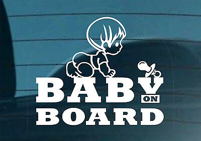 Baby On Board Sticker Decal Sign Car Window Safety Kids +