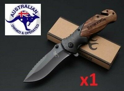 Browning Fixed Blade Hunting Knife Camping Tactical Outdoor AU Stock