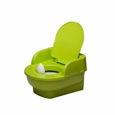 Green Potty Throne, Chair, Mini Toilet with lid, Potty Training