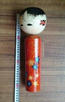 30cm 11 13/16 inches Kokeshi Doll type from japan Toraditional Antique