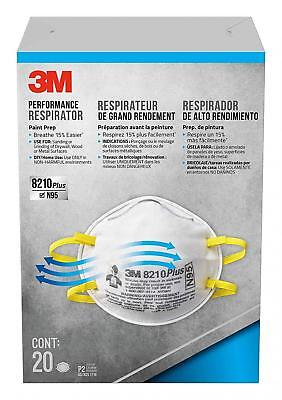3M Dust Respirators 8210 Plus, N95, 20-Pack