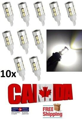 10x T10 194 168 10SMD 5630 White 6000k LED Projector Reverse DRL Light Bulbs Car